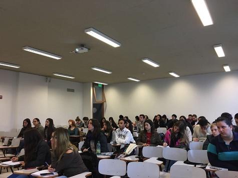 Vista parcial de los estudiantes