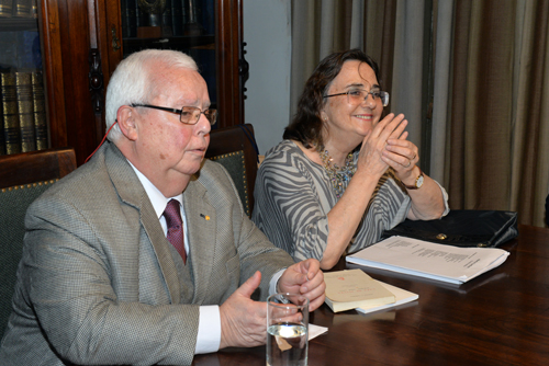 Jorge Arbeleche y Martha Canfield