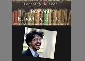 """Leonardo De León presenta """"El hacha del bufón"""" Premio Ariel 2016"""