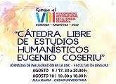Cátedra Libre de Estudios Humanísticos Eugenio Coseriu - 9 y 10 de agosto