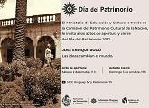 """Actos de apertura y cierre """"Día del Patrimonio 2021"""""""