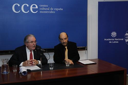 Adolfo Elizaincín y Jorge Bolani