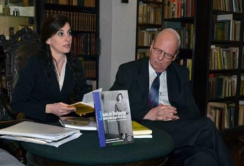 Los autores Marisa Faggiani y Juan Francisco Costa.